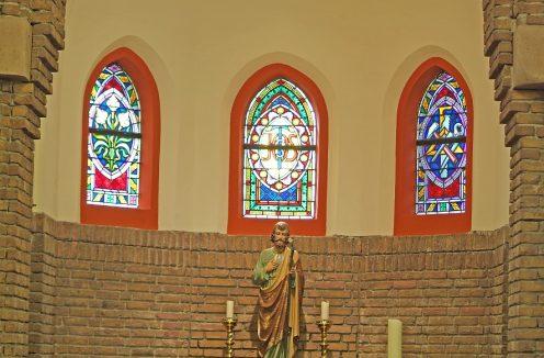 Glas-in-lood Kerk in Schalkhaar